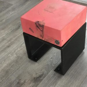 Northern Cube Presents a sleek and modern Coral color Ottoman for your space