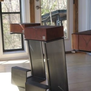 Northern Cube – Bar Stools in Walnut
